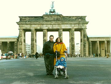 Ed and Sylvia at the Brandenburg Gate