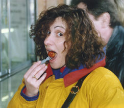Sylvia Eats Curry Wurst